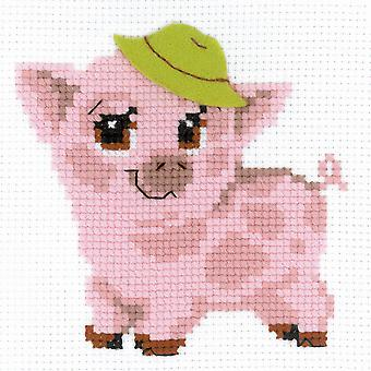 Piglet Counted Cross Stitch Kit-6