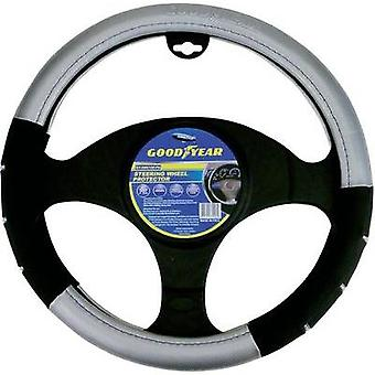 Steering wheel cover Black, Silver 37 - 39 cm Go