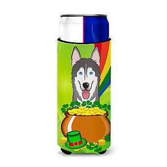 Alaskan Malamute St. Patrick's Day Michelob Ultra Koozies for slim cans BB1962MUK