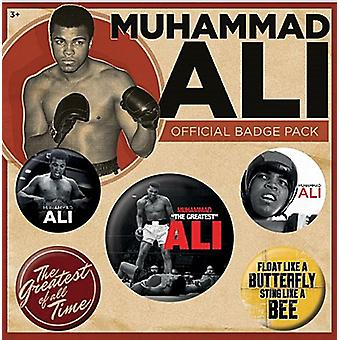 Muhammad Ali 5 ronde Pin Badges in Pack (py)
