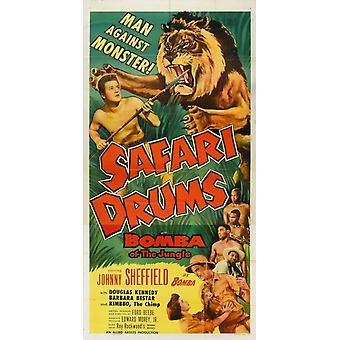 Safari Drums Movie Poster (11 x 17)