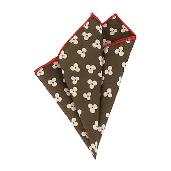 Snobbop handkerchief green red floral handkerchief Cavalier cloth