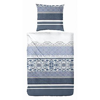 COCK Maco Satin Bed linen 135 x 200 cm Blue patterned