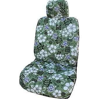 Side Airbag Optional; Aloha Honu Separate Headrests Hawaiian Car Seat Covers