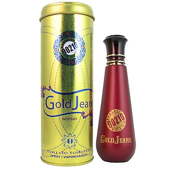 Jeans donna di Spray 3.4 oz EDT di Beverly Hills 90210 oro