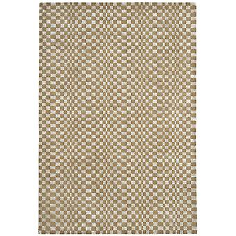 Riga Brown Wool & Viscose Modern Rug