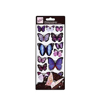 Anitas Dimensionen Butterfly Wings 3D Aufkleber lila