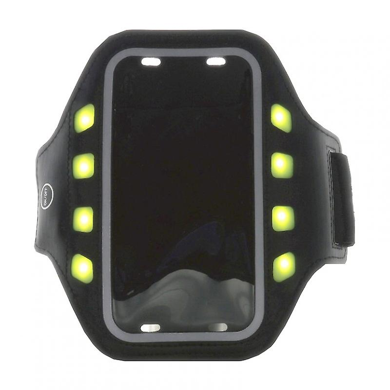 GEAR Sportarmband LED L Universal iPhone6 Svart