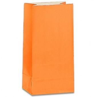 Paper Party bags - Orange - pack of 12