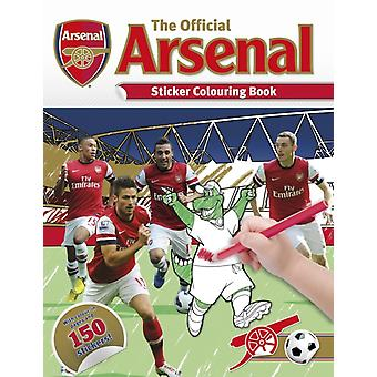 The Official Arsenal Sticker Colouring Book (Paperback) by Stead Emily