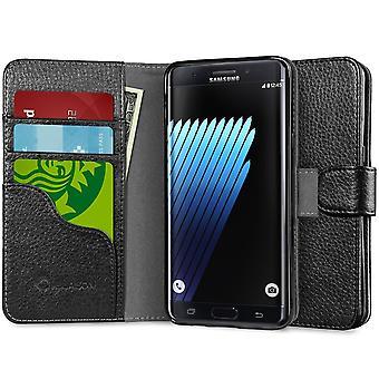 i-Blason-Galaxy-Note 7 caso Leatherbook monedero-negro