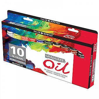 Daler Rowney Graduate Oil - 10 Farbe Set