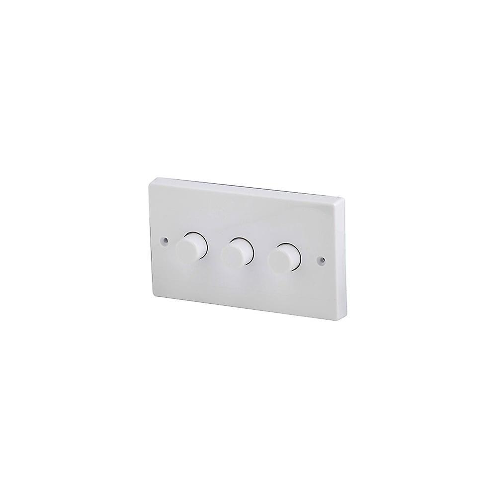 LED Robus 3 Gang 2 Way 250W blanc variateur