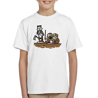 Calvin og Hobbes vikingerne Ragnar Lothbrok Kid's T-Shirt
