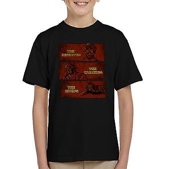Den inficerede gå og bidende dødt Kid's T-Shirt