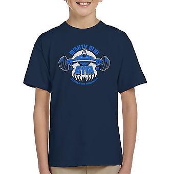 Mægtige blå Gym kryds Kid's T-Shirt