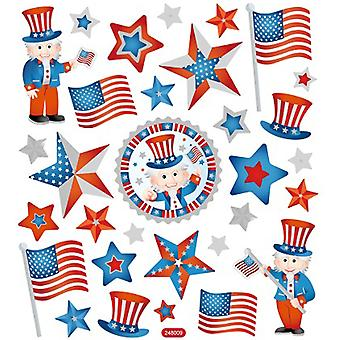 Multicolored Stickers-Patriotic SK129MC-4801