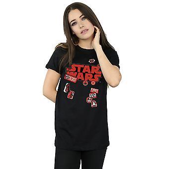 Star Wars Women's The Last Jedi Badges Boyfriend Fit T-Shirt