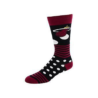 Puntos de calor de la NBA de Miami y calcetines de rayas