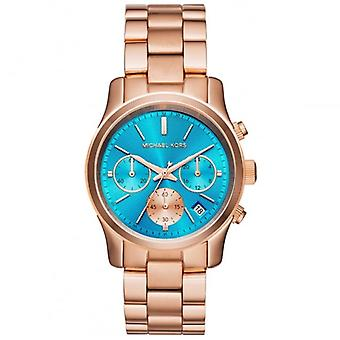 Michael Kors Watches Mk6164 Runway Blue & Rose Gold Ladies Watch