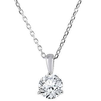 1/3 ct Solitaire Lab Grown Diamond Pendant available in 14K and Platinum