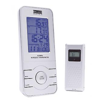 Balance radio controlled weather station Indoor and Outdoor Silver