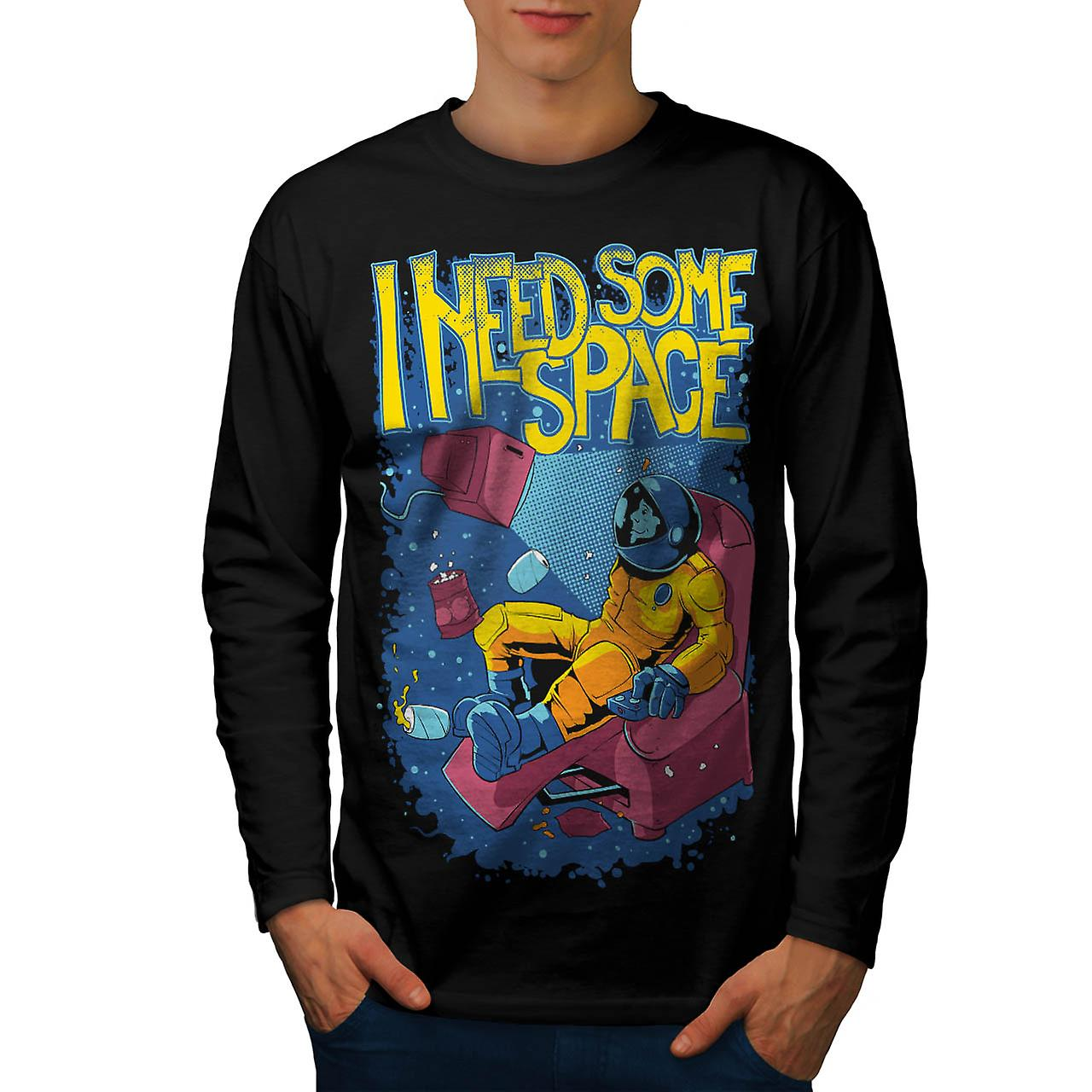 I Need Some Space Funny Men Black Long Sleeve T-shirt | Wellcoda