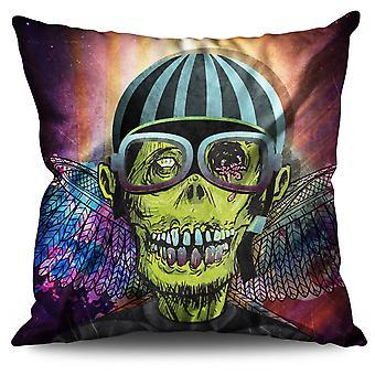 Pilot Zombie Linen Cushion Pilot Zombie | Wellcoda