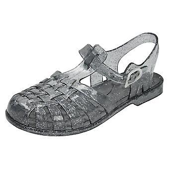 Flickor plats på stängd tå Jelly sandaler H2309