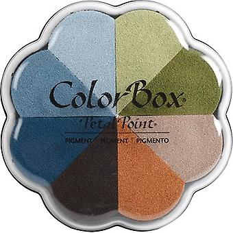 ColorBox Pigment Petal Point Ink Pad 8 Colors-Boardwalk 080000-08040