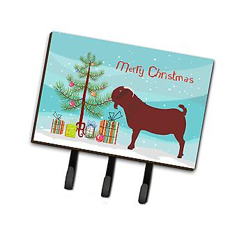 Carolines Treasures  BB9258TH68 Kalahari Red Goat Christmas Leash or Key Holder