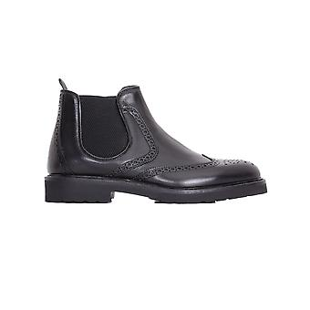 Rossi men's 6416N black leather ankle boots