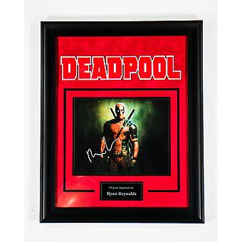Deadpool - Signed by Ryan Reynolds - Framed Artist Series