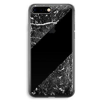 Przezroczyste etui (Soft) - czarny marmur Plus iPhone 7