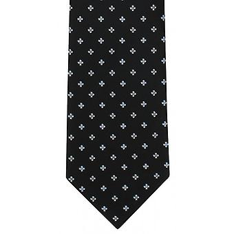 Michelsons of London Simple Flower Neat Polyester Tie - Black