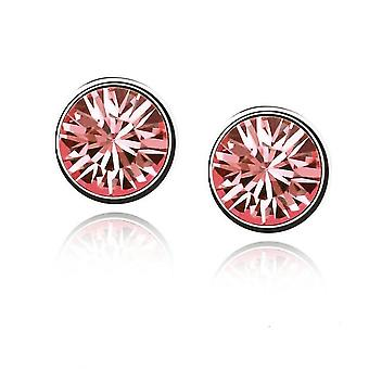 Womens Stud Earrings Salmon Pink Color