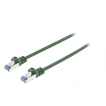 ValueLine CAT6a S/FTP network cable RJ45 (8P8C) male to RJ45 (8P8C) Male 0.50 m Green