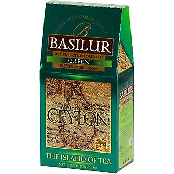 Basilur Tea Island Of Tea Green Loose Tea Pack 100G