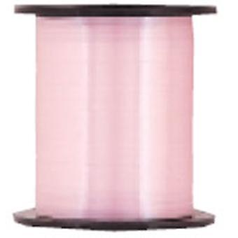 Eisstockschießen-Farbband für Ballons Pastell rosa große Roll