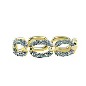 Joop kvinnors armband rostfritt stål guld OVALA JPBR10641B180