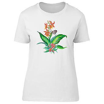 Entzückende Feder Blume Schmetterling T-Shirt Frauen-Bild von Shutterstock 728352a612
