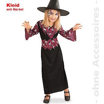Ведьма костюм детей череп волшебницы ведьма детей Хэллоуин костюм