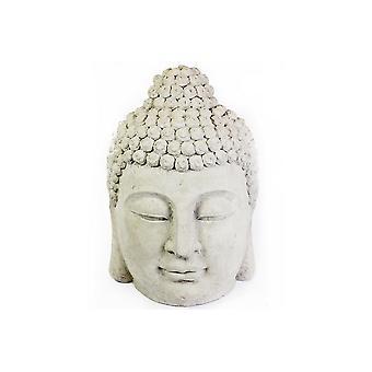 61X40CM LARGE STONE EFFECT BUDDHA HEAD GARDEN HOME DECORATION ORNAMENT