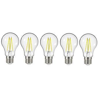 5 X Energizer 7.2W = 60W LED Filament GLS Light Bulb Lamp Vintage ES E27 Clear Edison Screw [Energy Class A+]