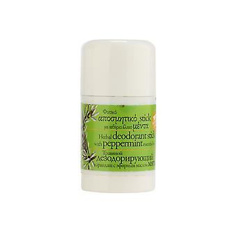 Skin-friendly natural deodorant stick peppermint from Evergetikon 30ml.