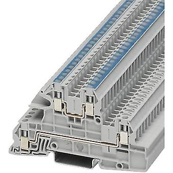 Phoenix Contact UTI 2,5-L/N 3076035 Industrial terminal block Number of pins: 4 0.2 mm² 4 mm² Grey 1 pc(s)