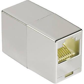 RJ45 nätverk Adapter CAT 5e [1 x RJ45 socket - 1 x RJ45 socket] 0 m grå Hama