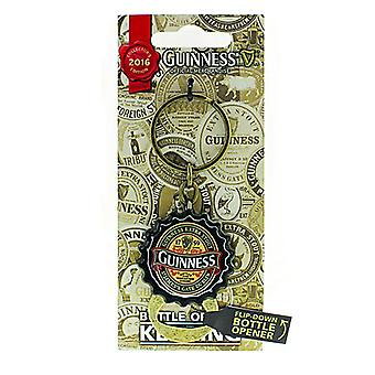 Guinness 2016 Collectors Limited Edition Bottle Cap Keyring With Flip Down Bottle Opener (5412)