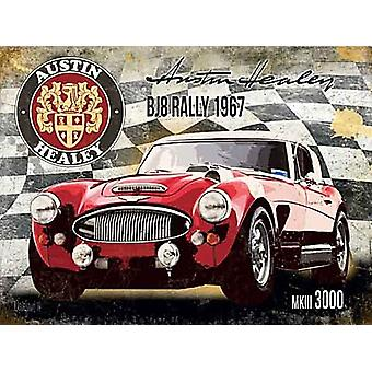 Austin Healey Mk111 3000 Bj8 Rally 1967 Large Steel Sign 400Mm X 300Mm
