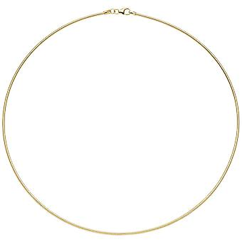 Necklace 925 sterling silver gold gold plated 1.5 mm 45 cm chain necklace